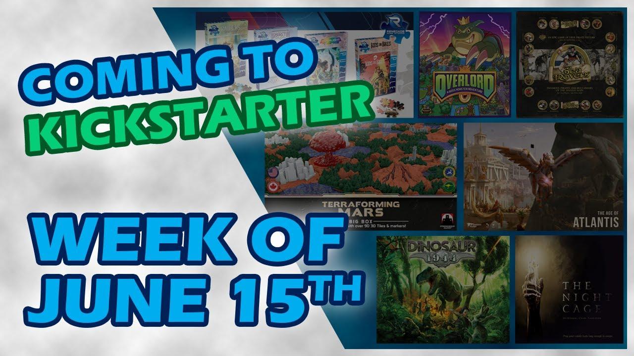 📅 Kickstarter Boardgames Week of June 15th   Dinosaur 1944 , Terraforming Mars, Age of Atlantis