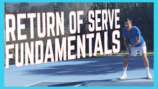 Return Of Serve Fundamentals - Return Technique - Tennis Lesson
