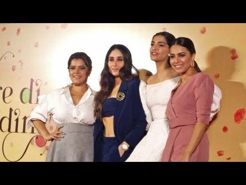 Veerey Di Wedding  Launch  Kareena Kapoor, Sonam Kapoor, Swara Bhaskar, Shikha Talsania