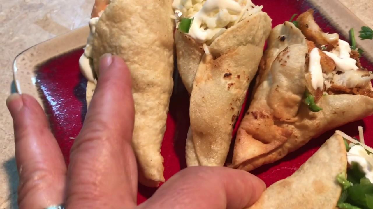 Abuelas Coños conos de tortillas y pescado