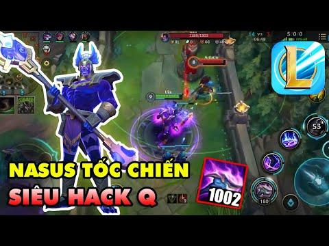 Trải nghiệm Nasus Hung Thần siêu hack Q trong LMHT: Tốc Chiến | League of Legends Wild Rift