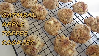 Vr: Gluten Free Oatmeal Apple Toffee Cookies