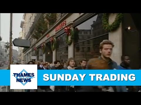 BHS and Woolworths Sunday Trading | Thames News
