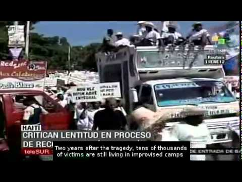 Haitians denounce slow reconstruction after the earthquake