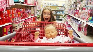 Toy Shopping with Reborn Baby Sophia Doll Reborns Videos