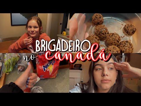 HOST SISTER CANADENSE EXPERIMENTANDO O BRIGADEIRO