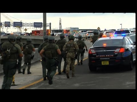 Police and rescue services race to Florida shooting scene