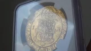 グレートブリテン(スコットランド)1604-25年ジェームズ6世 ユナイト(22シリング)金貨NGC MS62