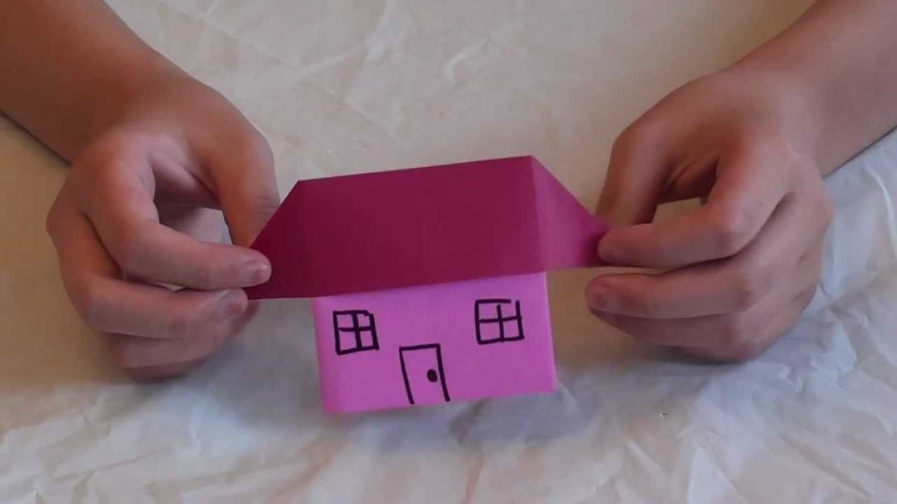 How To Make An Origami House Youtube