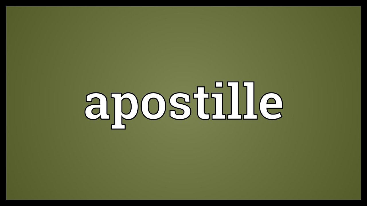 apostille definition