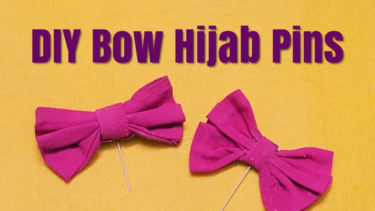 DIY Bow Hijab Pins - easy hijab pin tutorial - hijab pin idea // Hania Hanif