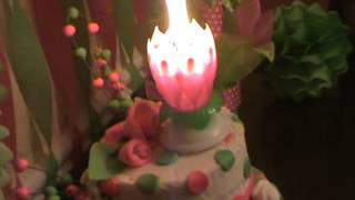 Candle That Opens Like A Flower Youtube