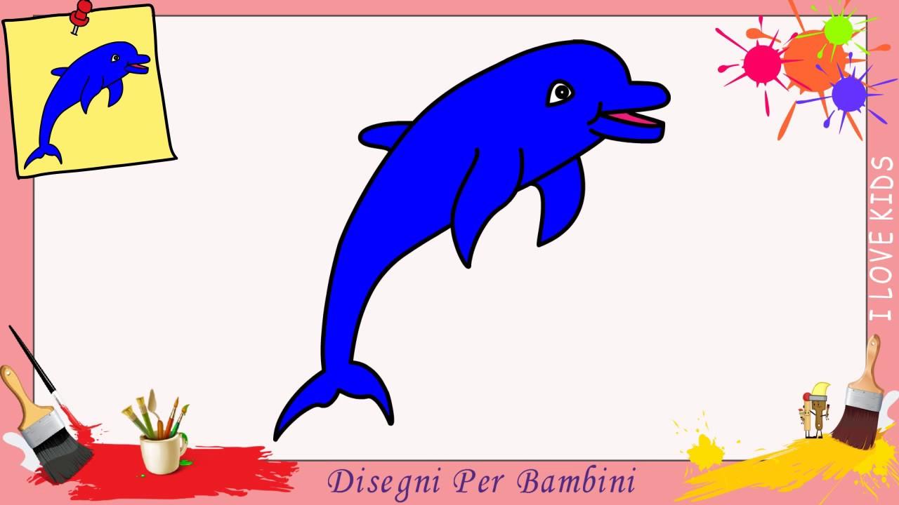 Top Come disegnare un delfino FACILE passo per passo per bambini  SF13