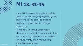 #Ewangelia   30 lipca 2018   (Mt 13, 31-35)
