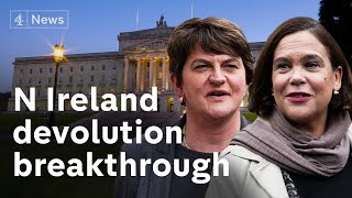 Northern Ireland parties agree to restore devolution ending three years of stalemate