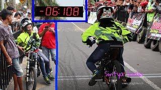 Semua TakPercaya, Ketika SANTY MS 6,1detik Fu 200cc CMTmarkipat Drag Bike Blitar Higam