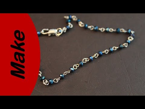 DIY Jewelry - clipping a metal and bead string and adding a fish hook latch