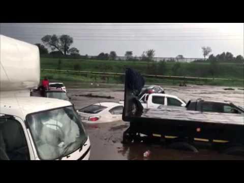 Flash Floods Submerge Cars in Johannesburg