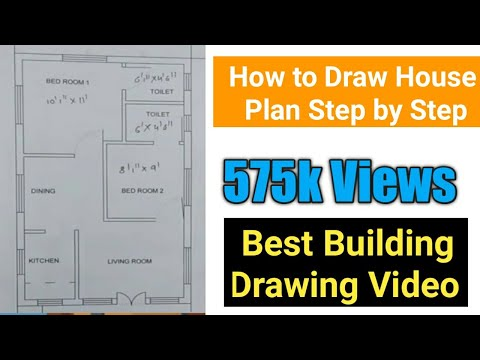 How To Draw House Plan - 1