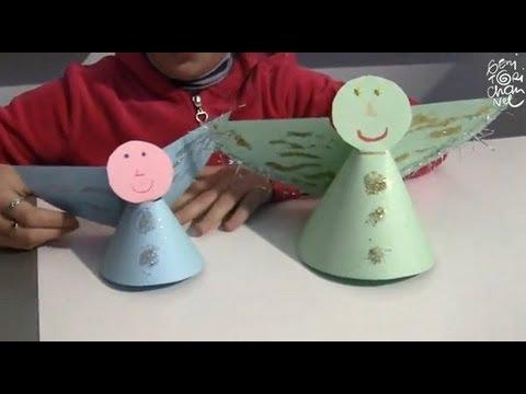 Natale Angeli Di Cartoncino Youtube