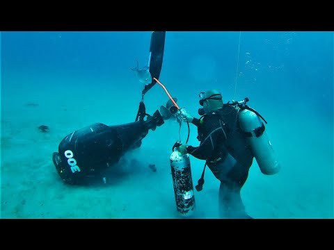 Sunk Outboard Engine Recovery in 100 Feet of Water ! (Fluid