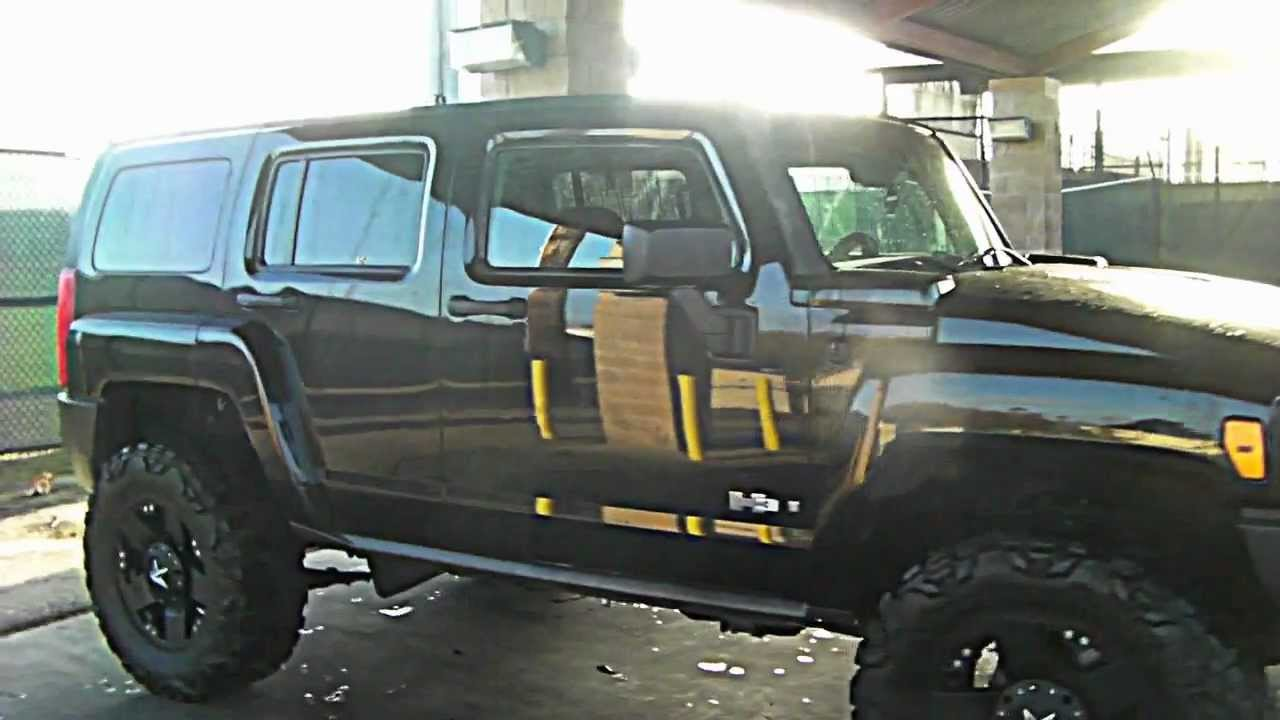 Black hummer h3 kmc xd rockstars youtube vanachro Image collections