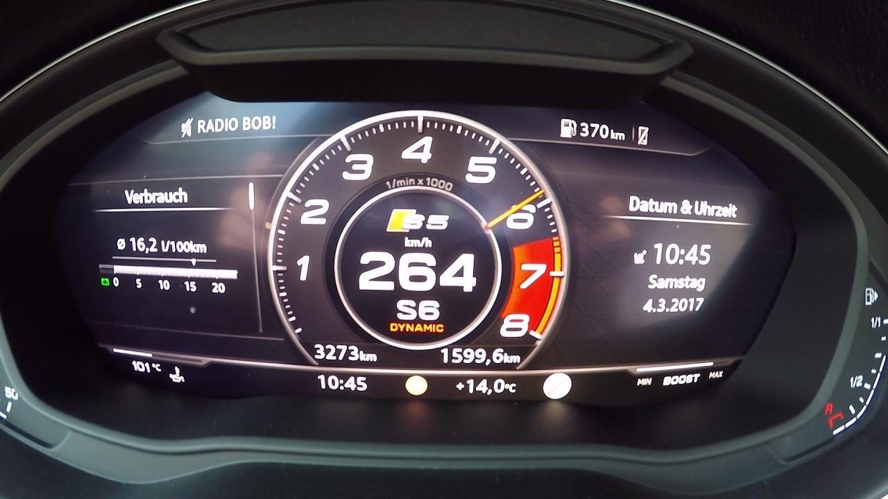 2017 audi s5 coupe f5 0 100 km h 0 60 mph tachovideo rh youtube com