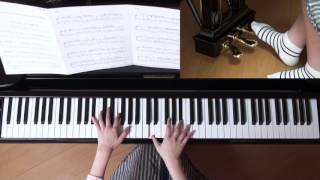 使用楽譜;ぷりんと楽譜・上級(採譜者の記載なし)、 2017年3月9日 録...