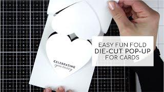 Fun Fold Heart Pop-Up Card Base ( Cardmaking - Papercraft)