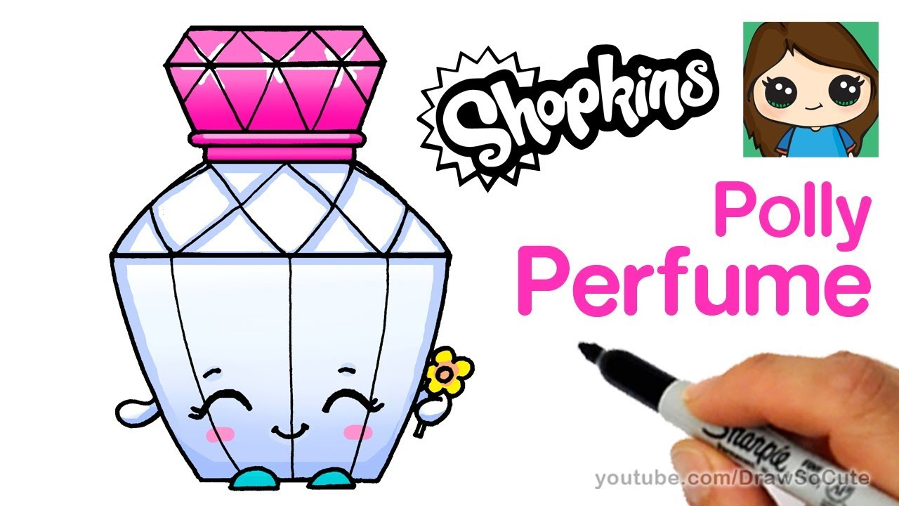 How To Draw A Perfume Bottle Shopkins Polly Perfume