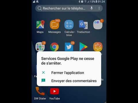 لحل مشكل   Service Google Play Ne Cesse De S'arrêter