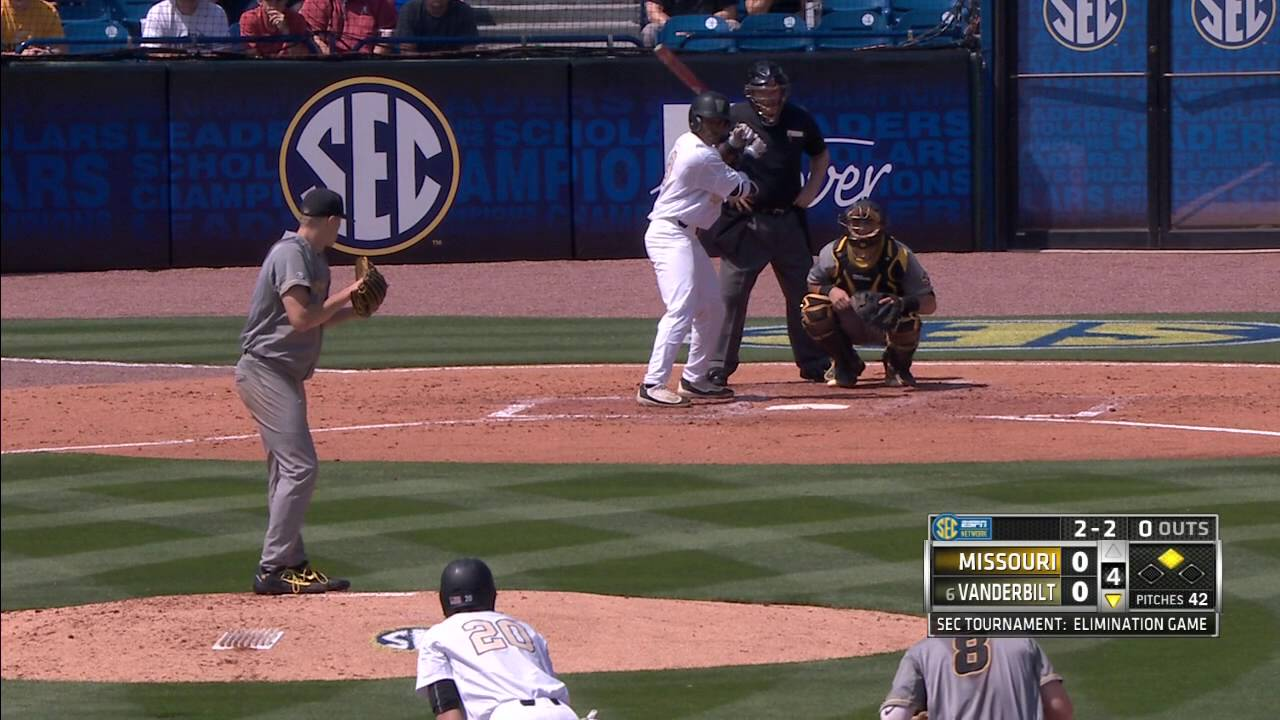 HIGHLIGHTS: Mizzou Falls to Vanderbilt in 2016 SEC Baseball Tournament