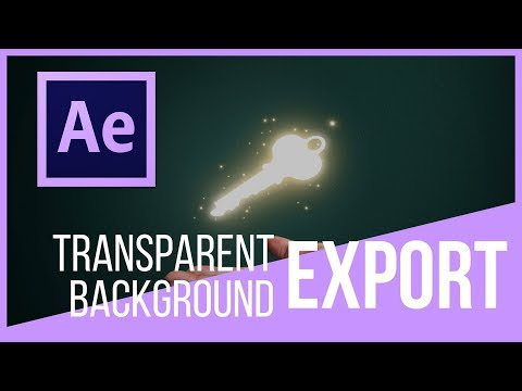 How to make background transparent adobe after effects