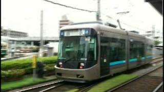 長崎電気軌道 超低床車両3000形 浦上車庫前