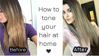 How to tone your hair at home   Brassy to Ash Blonde   Wella Toner