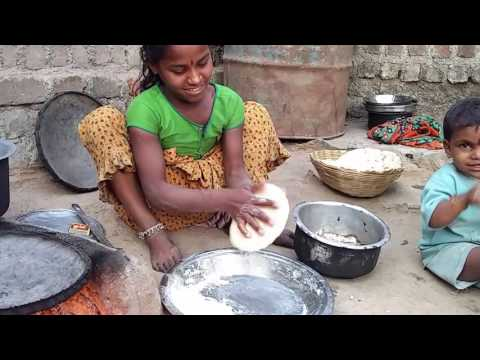 Little girl making