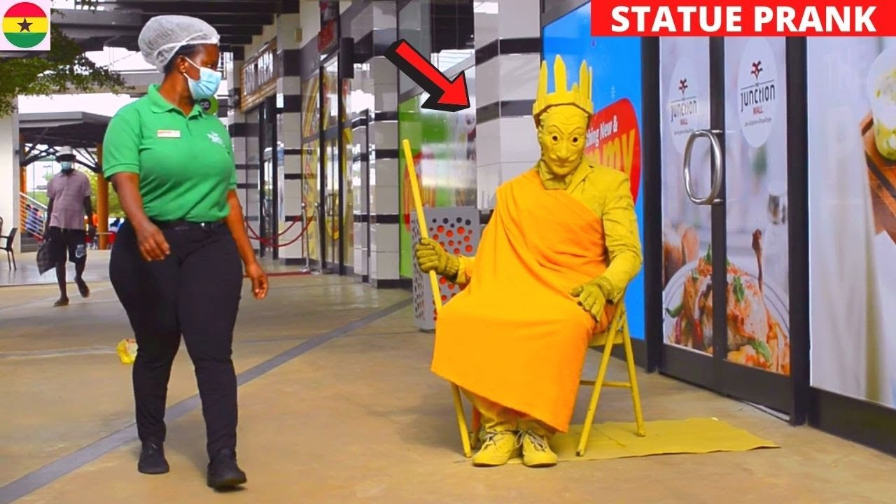 ???King Solomon Gold Statue Prank. She Didn't Expect This!   Goldman