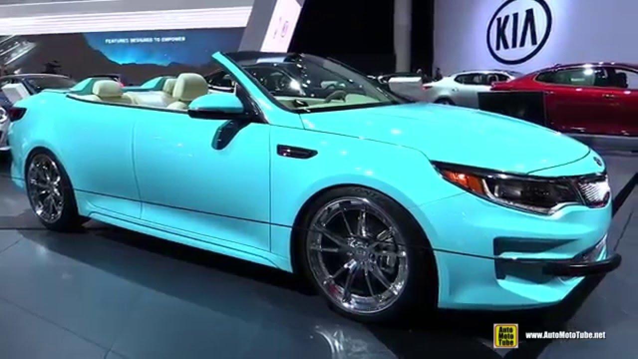 2016 Kia Optima A1a Convertible Concept Walkaround Detroit Auto Show You