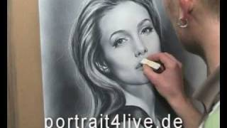 angelina jolie portrait painting drawing by sergius pabst