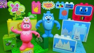 Yo Gabba Gabba Mega Bloks Play Sets Foofa, Toodee, Brobee and Muno Land Mix and Match Figures Toys