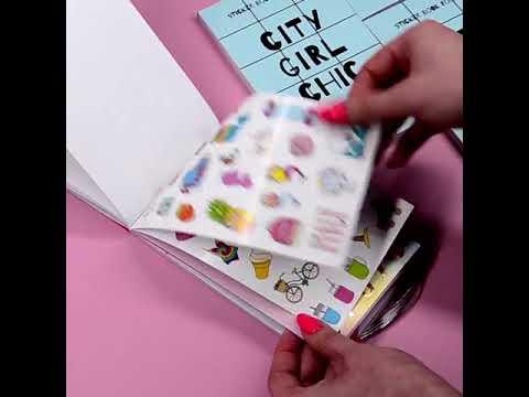 Stickerbook City Girl Chic книга с наклейками