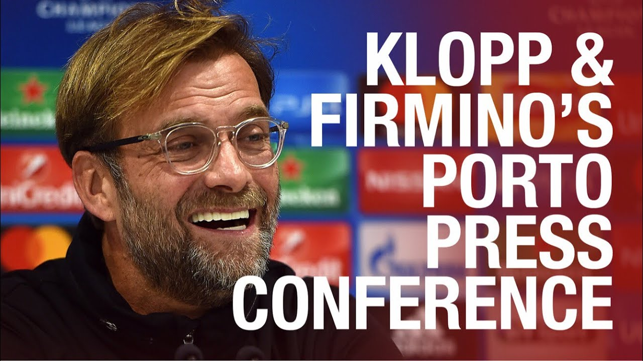 Liverpool's Champions League press conference | Klopp and Firmino preview Porto #1