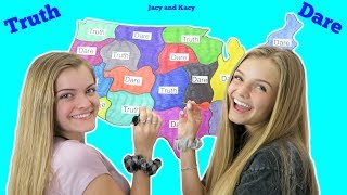 Throwing Darts At A Map Truth or Dare Challenge ~ Jacy and Kacy