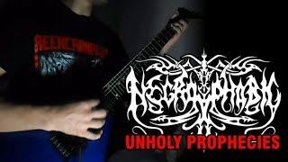 NECROPHOBIC - Unholy Prophecies (guitar cover)