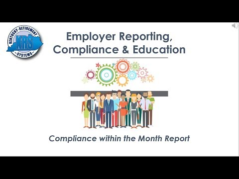 KRS Employer Reporting Official Video (Section 3)  Compliance in Monthly Report