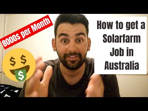 HOW TO GET A SOLARFARM JOB | 8000$ A MONTH IN AUSTRALIA | WORK AND TRAVEL