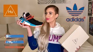 a4b36a2f7e618 ADIDAS X PHARRELL WILLIAMS SOLAR HU SNEAKERS  UNBOXING