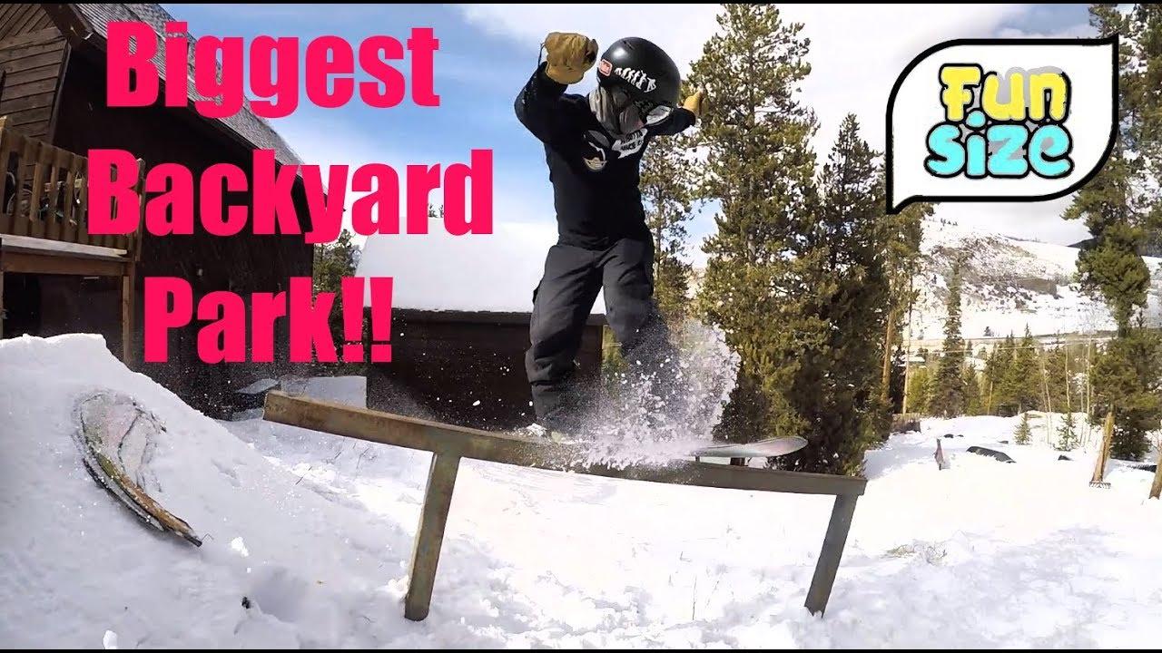 The Best Backyard Snowboard Park In The World! - Snowboard ...