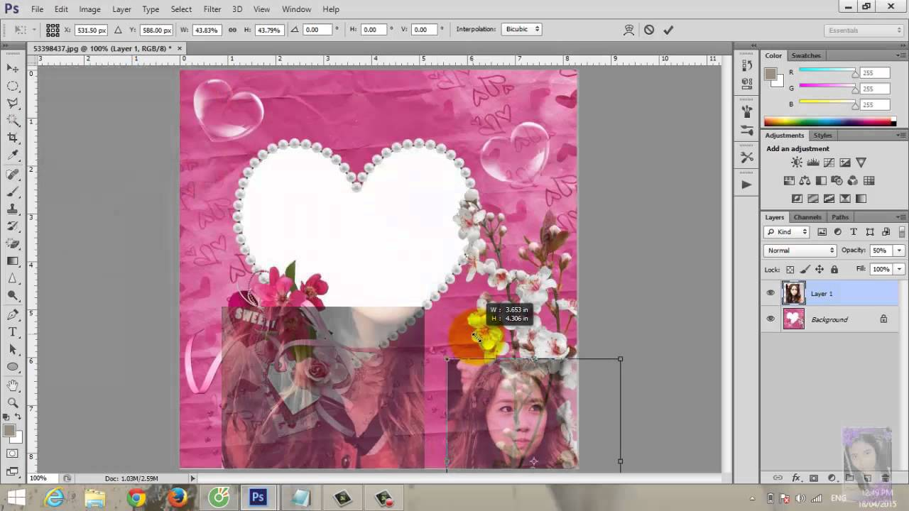 Hướng dẫn ghép ảnh vào khung trong photoshop cs6