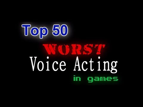 Top 50 Worst Voice Acting In Games (Old Tats TopVideos List)